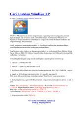 Cara Instalasi Windows XP.docx
