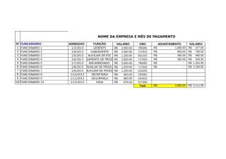 holerite de pagamento modelo.xls