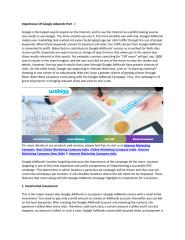Importance Of Google Adwords Part - I.pdf