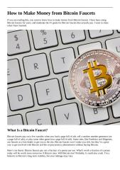 How to Make Money from Bitcoin Faucets.docx