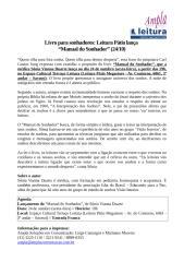 """Leitura Pátio lança """"Manual do Sonhador"""".doc"""